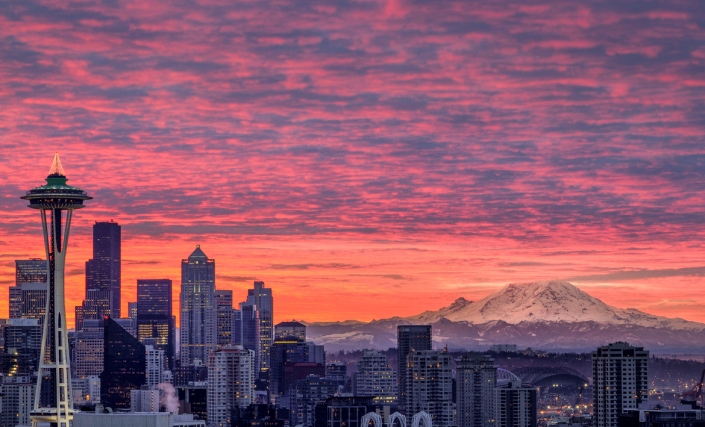 Winter Sunrise in Seattle